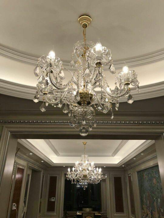 你要的水晶灯参考来了—杭州客户全套水晶灯实拍图