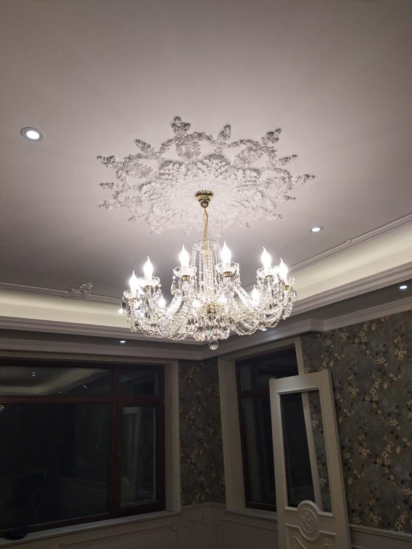 眼见为实—北京客户整套欧式水晶灯实拍