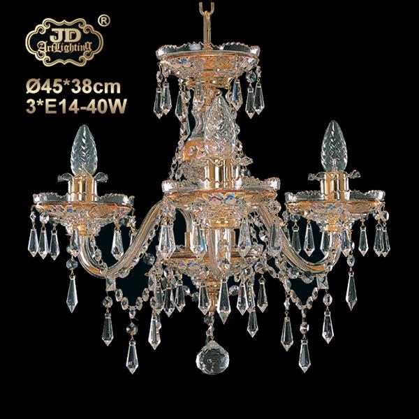 捷克民族工艺宫廷卧室玄关书房3头水晶吊灯 ¥8999元 会员优惠