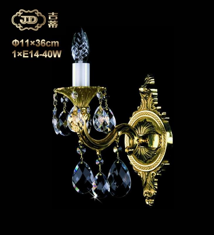 水晶壁灯 全铜灯 捷克工厂直供原装进口1头手工水晶壁灯 ¥2415元起/盏 会员优惠