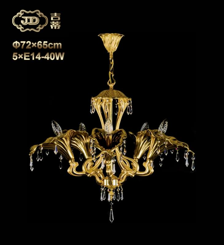 全铜灯 捷克工厂直销原装进口美式5头全铜灯 ¥19599元 会员优惠