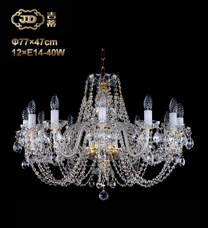 水晶吊灯 捷克客厅餐厅卧室12头水晶吊灯¥14599元 会员优惠