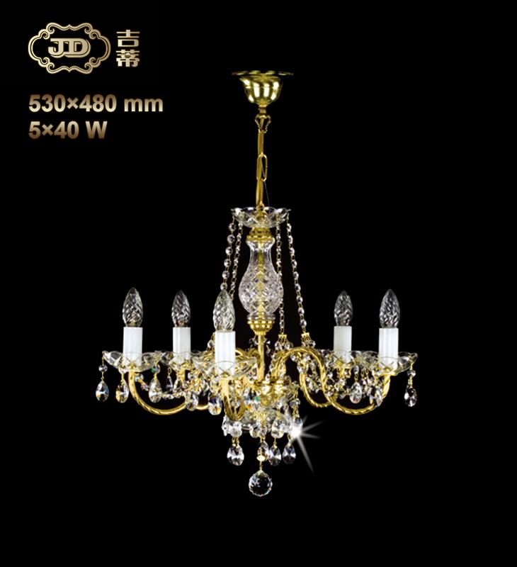 水晶吊灯 捷克玄关过道5头金属灯臂水晶吊灯 ¥5699元 会员优惠