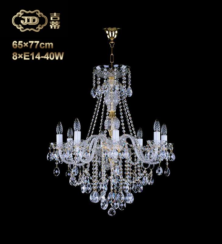 水晶吊灯 捷克原装进口餐厅欧式饱满8头水晶吊灯 ¥10599元 会员优惠