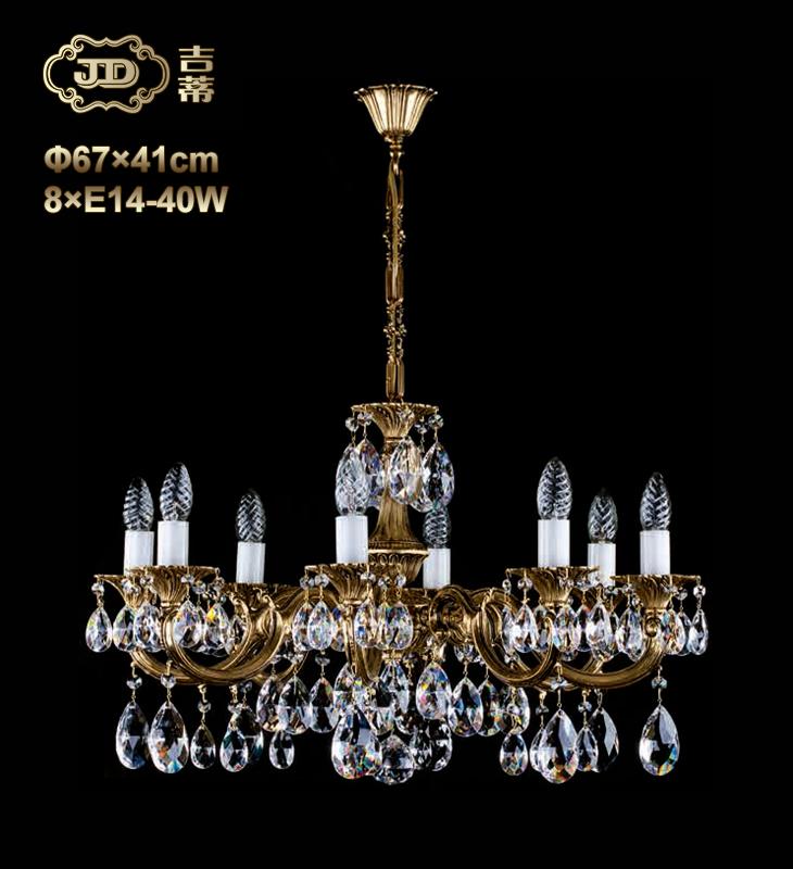 欧式金属进口装饰水晶吊灯