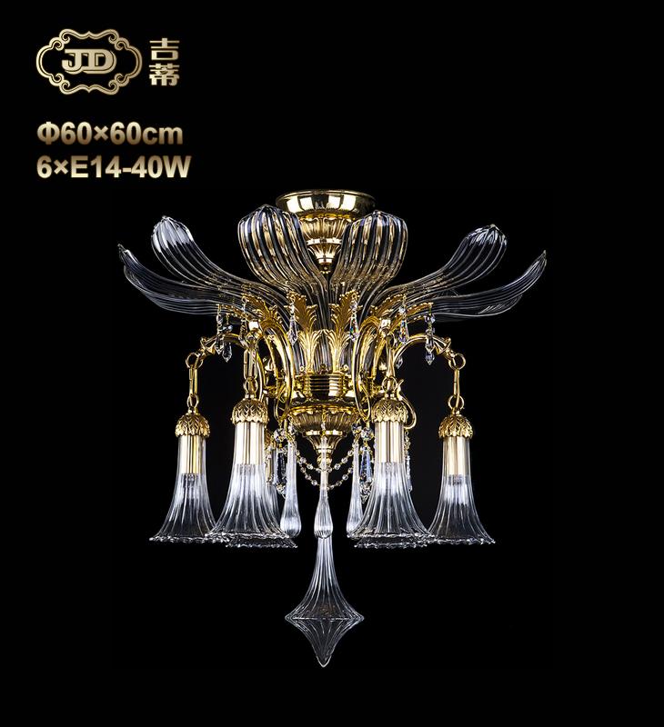 吸顶灯 捷克原装进口卧室玄关6头美式吸顶灯 ¥38199元 会员优惠