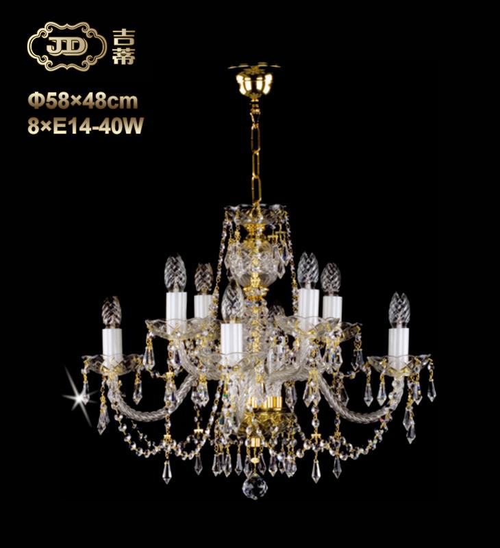 水晶吊灯 捷克工厂直供原装进口8头水晶吊灯 ¥6499元 会员优惠