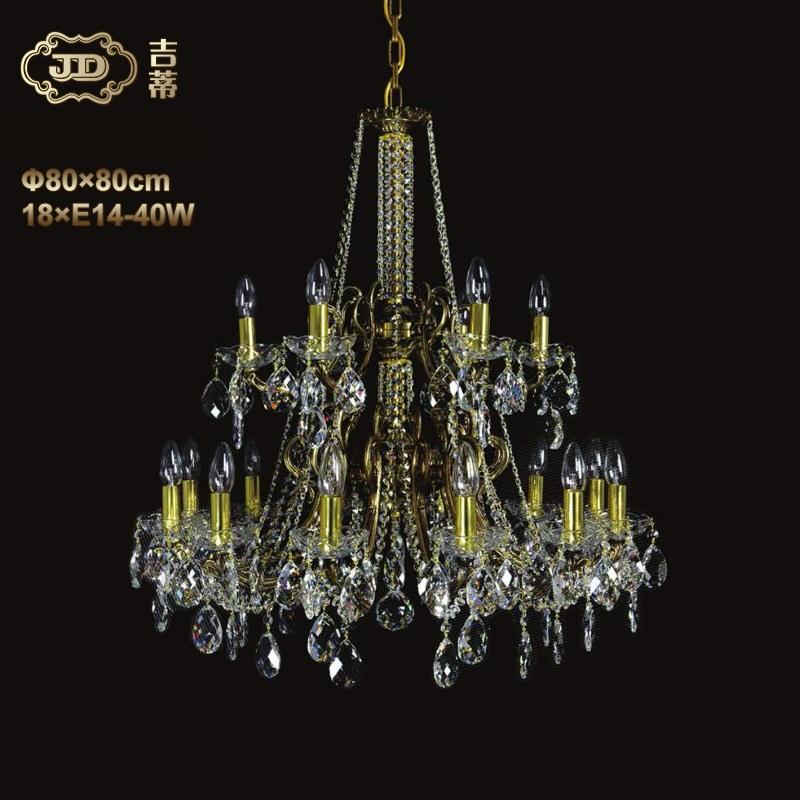 水晶吊灯 捷克厂家直销原装进口客厅餐厅18头水晶吊灯