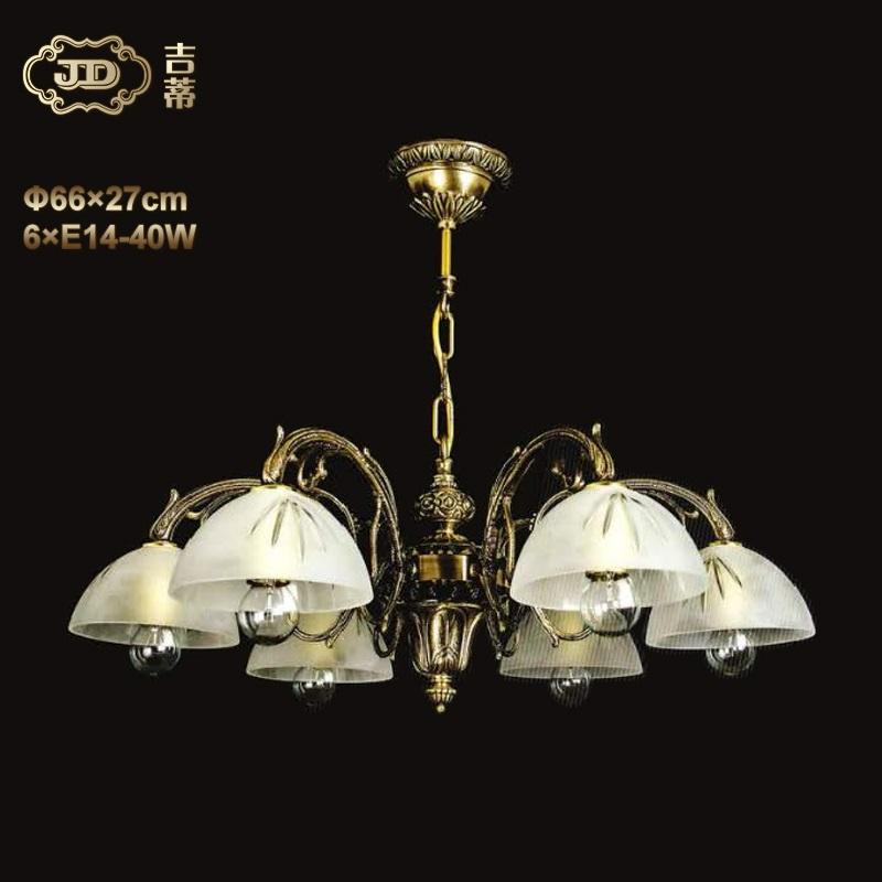 全铜灯 捷克厂家直销原装进口美式6头全铜吊灯