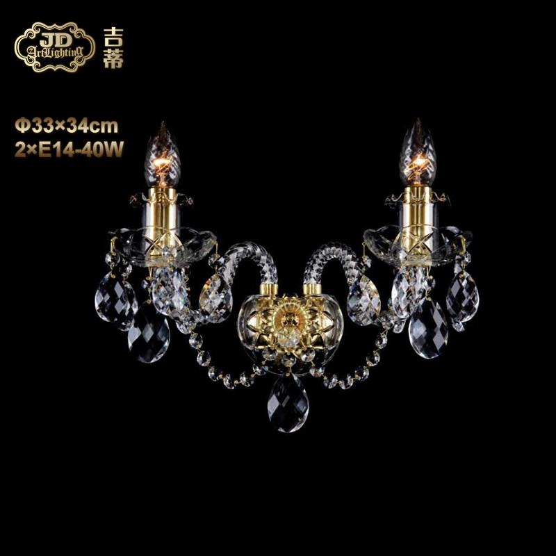 壁灯 捷克工厂直供原装进口2头金色水晶壁灯 ¥2299元 会员优惠