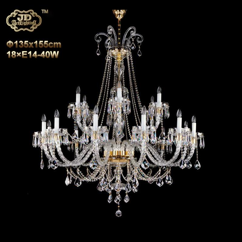 水晶吊灯 捷克工厂直供原装进口18头手工水晶吊灯 ¥55999元起/盏 会员优惠