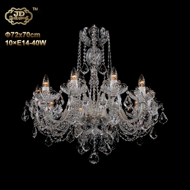 欧式吊灯 10头银色施碧伽水晶灯碟吊灯 ¥29199元 会员优惠