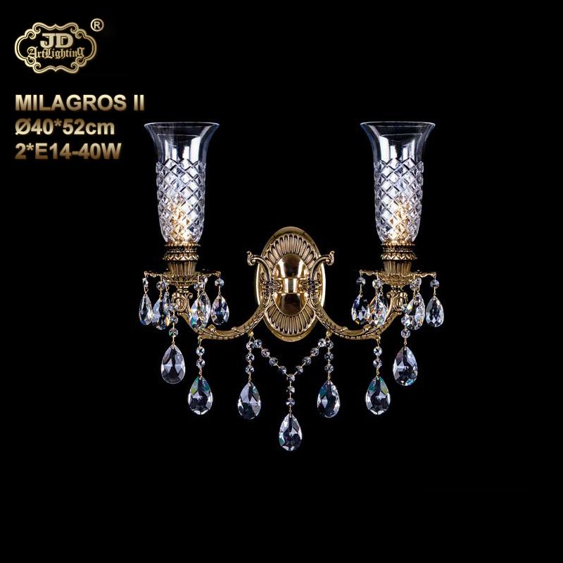 欧式壁灯 捷克工厂直供原装进口2头手工水晶装饰壁灯 ¥10099元起/盏 会员优惠