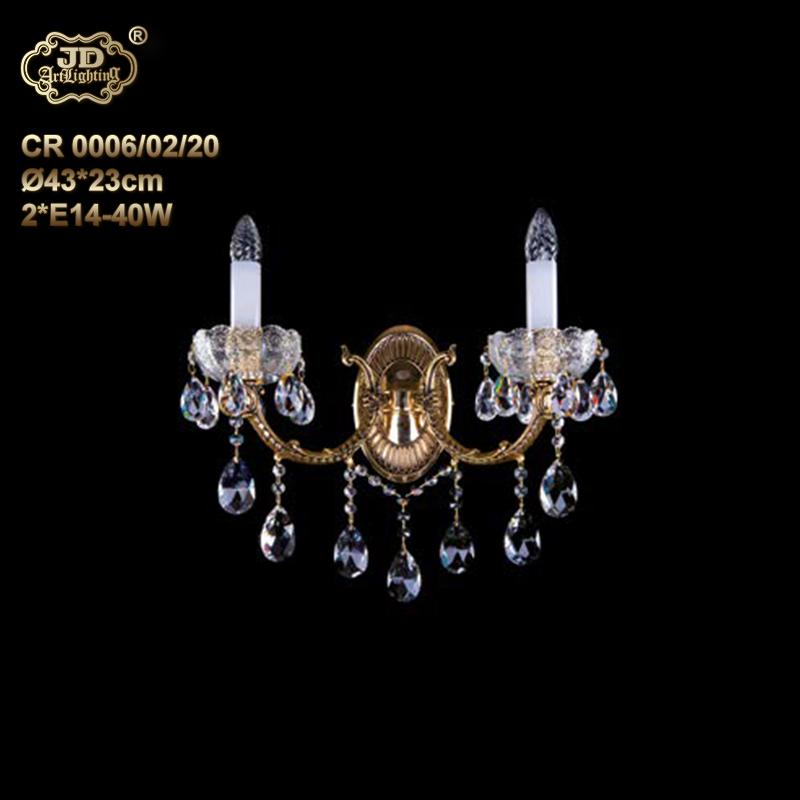 壁灯 捷克工厂直供原装进口2头水晶壁灯 ¥5699元 会员优惠