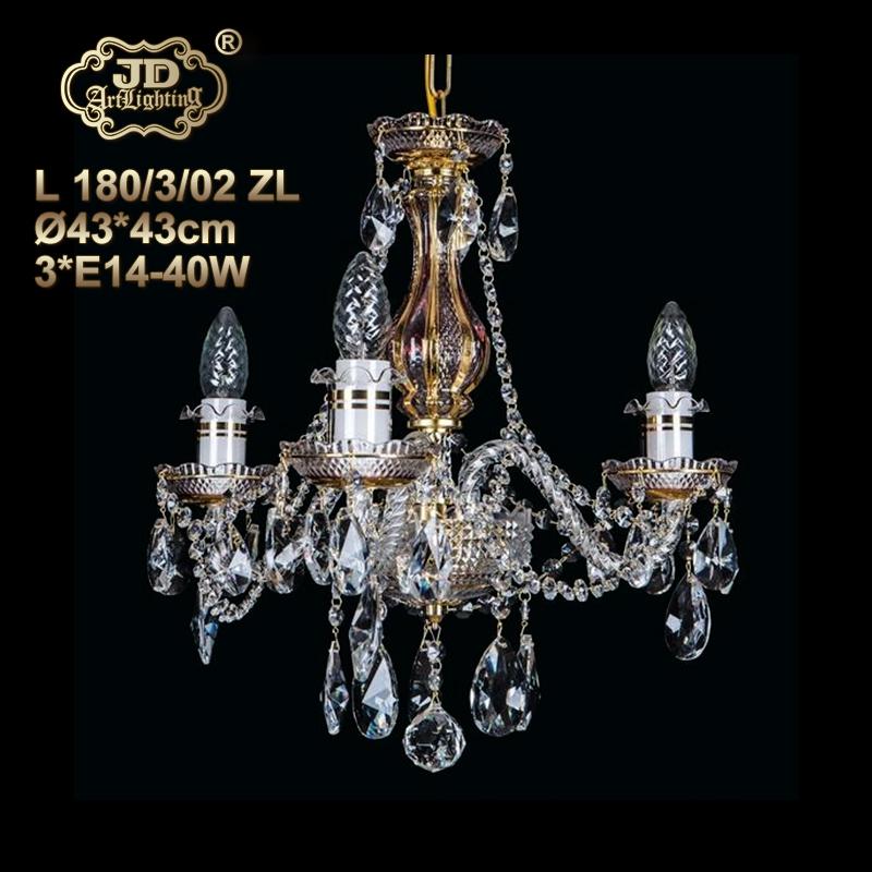 餐厅厨房卧室书房过道玄关别致3头水晶小吊灯¥4699元 会员优惠
